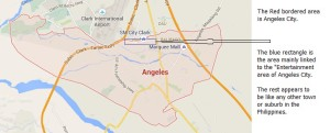 Angeles City map with Fields Insert included