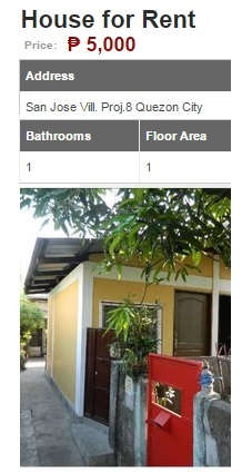 Average Philippines Town House Quezon City 5k