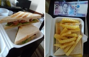 BLT and Fries for 100 pesos
