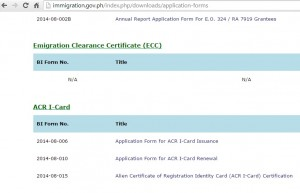 Philippines BI Forms