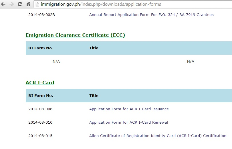 Requirements for an ecc exit clearance certificate philippines philippines bi forms yadclub Gallery